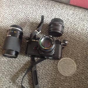 Camera bag and lenses