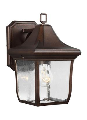 "Feiss Oakmont "" Outdoor Wall Lantern in Patina Bronze"