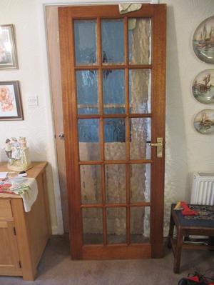 Glazed hardwood door