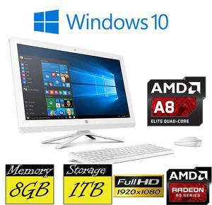 "HP 24-g080na All in One PC 24"" Full HD AMD Quad Core A8 8GB"