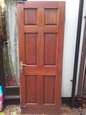 Hardwood external door