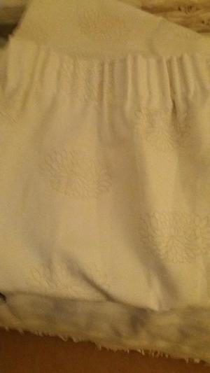 John Lewis waterlily curtains, cream with beige flower