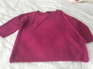 Lovely sparkly cerise pink jumper, size 18 in Plymouth