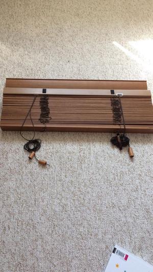 Oak Slatted Venetian blind 76cm width by v long!