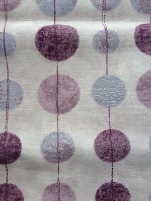Roman Blind with Dot Design Purple/Grey