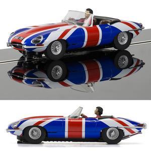 SCALEXTRIC Slot Car C Jaguar E-Type Union Jack