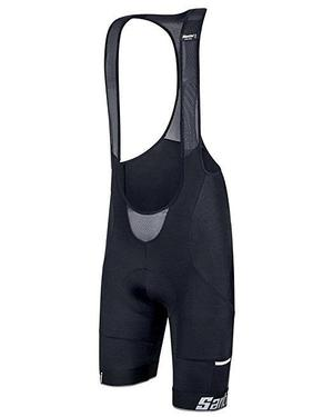 Santini Mago Bib Shorts, Nat Pad - Black (Large)