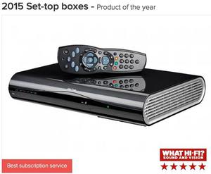 Sky+HD 2TB box with 2 remotes, HDMI cable and power cable