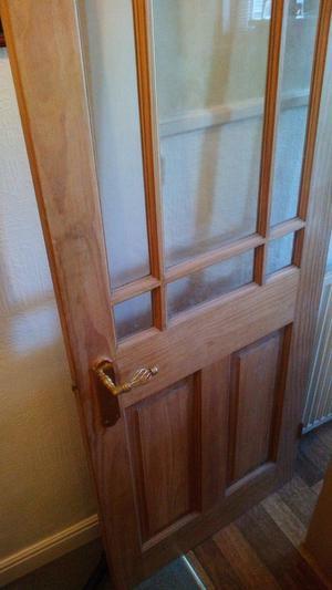 Solid Pine Internal Door*Half Glazed*Project