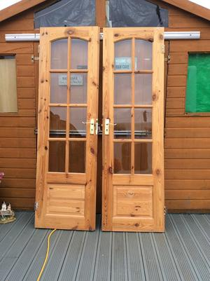 Solid wood glazed interior doors