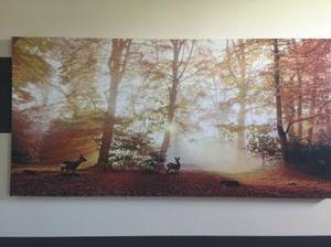 Sparkly autumn coloured canvas