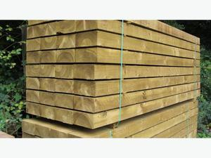 30 new railway sleepers 100 x 200 x  mm