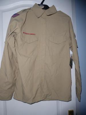 Boy scouts of America leader shirt ladies XL new with tags.