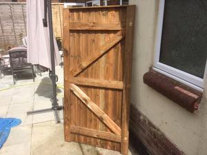 Brand new wooden gate