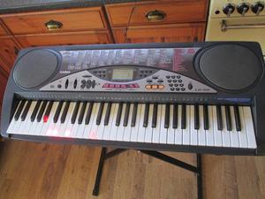 Casio LK-50 electronic keyboard, stand & manual