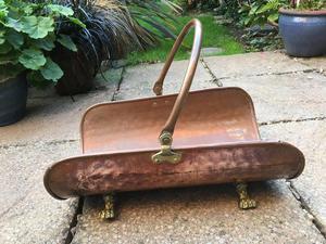 Copper and Brass Log Holder