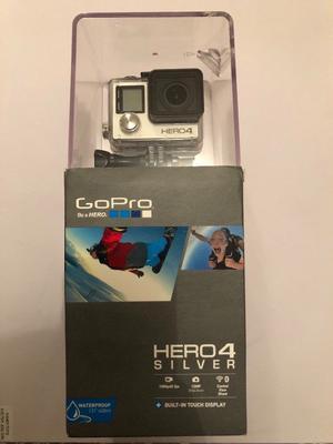 GoPro Hero 4 Silver in original box **excellent condition**