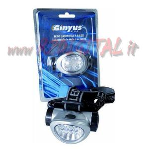 HEADLAMP GINYUS 8 LED BY HEAD TORCH AAA WHITE LIGHT CASCO