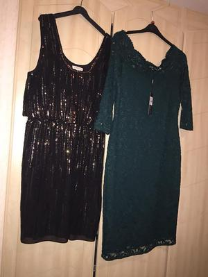 MONSOON DRESS BLACK AND GOLD SIZE 16