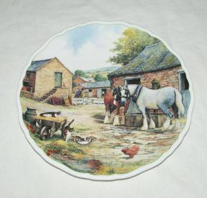 Royal Doulton Collectors Plate DRINKING COMPANIONS From FARM