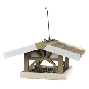 S#TRIXIE Hanging Bird Feeder Food Roof 46x22x44 cm Brown and