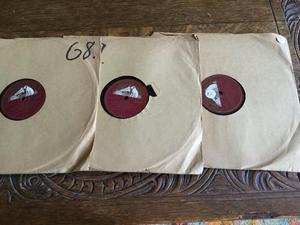 Three Vintage 78 Records of Peter Pan