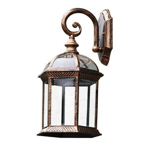 Traditional Outdoor Exterior Hanging Cathedral Glass Lantern