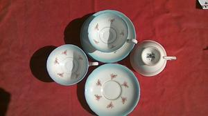 VINTAGE ROYAL STAFFORD CUPS AND SAUCERS x 3