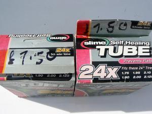 """1 PR 24"""" MTB SHOPPER PUNTURE PROOF INNER TUBES"""