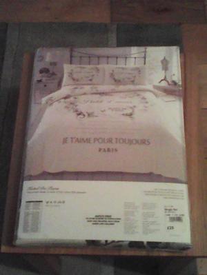 2 Brand new, 'Hotel De Paris' single duvet cover sets