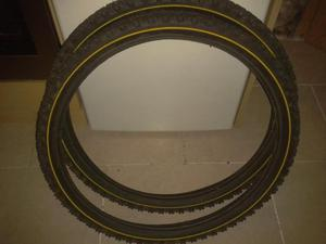 2 x 24 X 2.1 Vee Rubber bike tyres As new condition