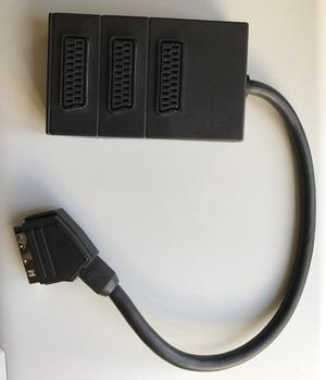 3 Way SCART splitter/connector