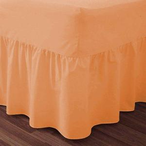 Brand New Luxury Plain Dyed PercaleFrilled Double Valance
