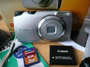 Canon PowerShot A IS 14.1MP Digital Camera - Silver IN