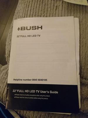 Fully working Bush 22 inch Full HD LED TV