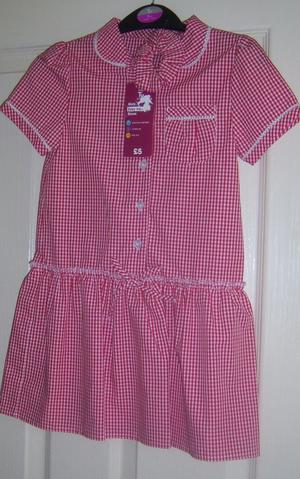 GIRLS SCHOOL DRESS FOR SUMMER AGE 5 YEARS
