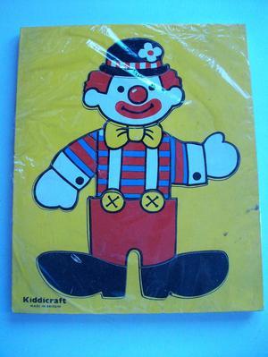 Kiddicraft WOODEN CLOWN JIGSAW PUZZLE 9 PIECES **GC**