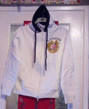 LONDON GUGU WHITE HOODIE size Extra Large brand new with tags ONLY £5