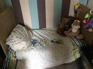 Mamas and papas toddlers bed with matress