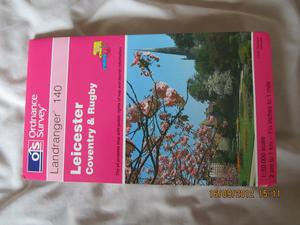 OS map Leicester, Coventry and Rugby