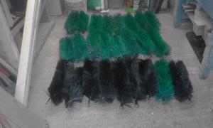 Pond filter brushes