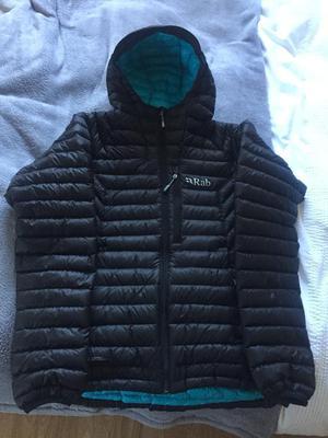 RAB Microlight Alpine Down Filled Jacket Black Size 12