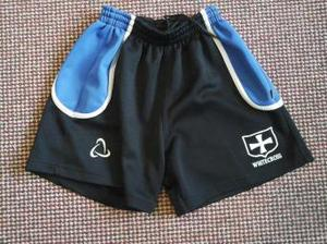 The Dean Academy School sports shorts with Whitecross badge