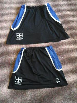 The Dean Academy School sports skorts with Whitecross badge