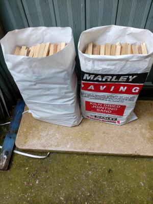 Two large bags of sticks / kindling forsale