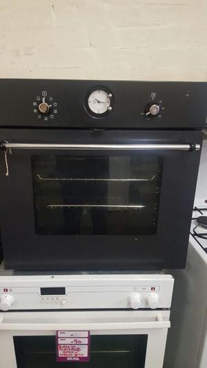 black ikea electric single built in fan assisted oven