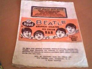 Beatles Krunch Coated Ice Cream bar Wrapper 's
