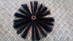 Chimney sweep brush head position. toilet rod size