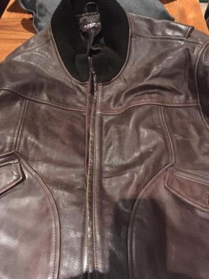 Men's brown diuffer St. George's leather jacket