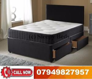 NEW OFFER BRAND NEW DOUBLE DIVAN BASE WITH MEMORY FOAM (SINGLE / KING SIZE AVAILABLE)